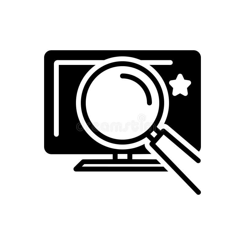 Черный твердый значок для ясно, просто и отчетливо иллюстрация вектора