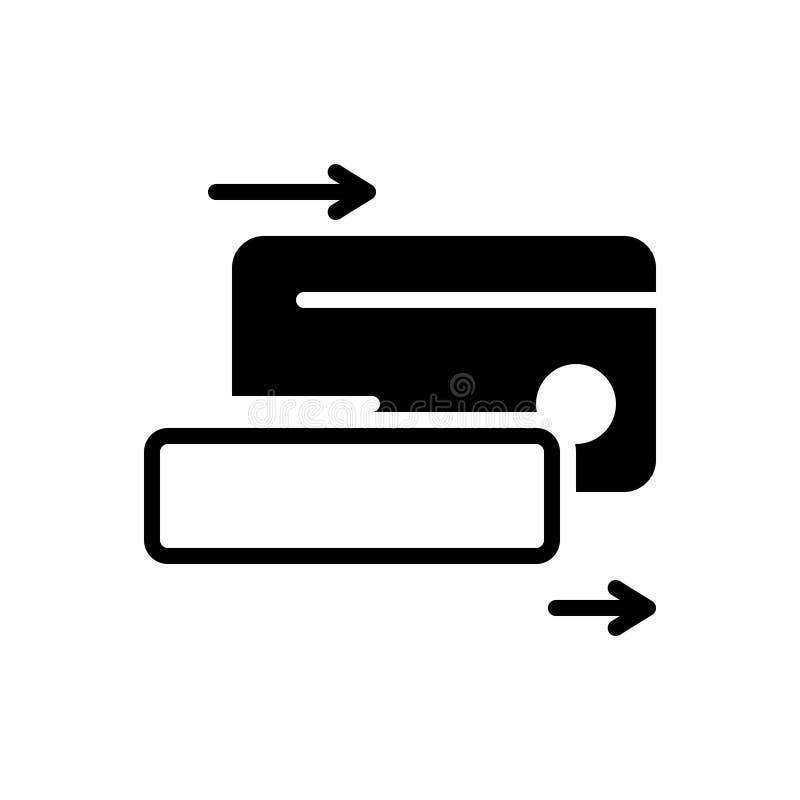 Черный твердый значок для Cardswiping, оплачивать и машины бесплатная иллюстрация