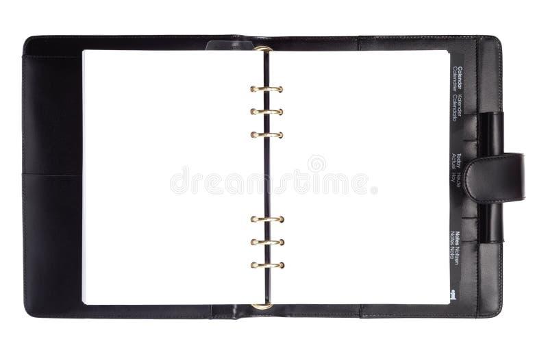 черный тип бумаги тетради стоковое изображение rf