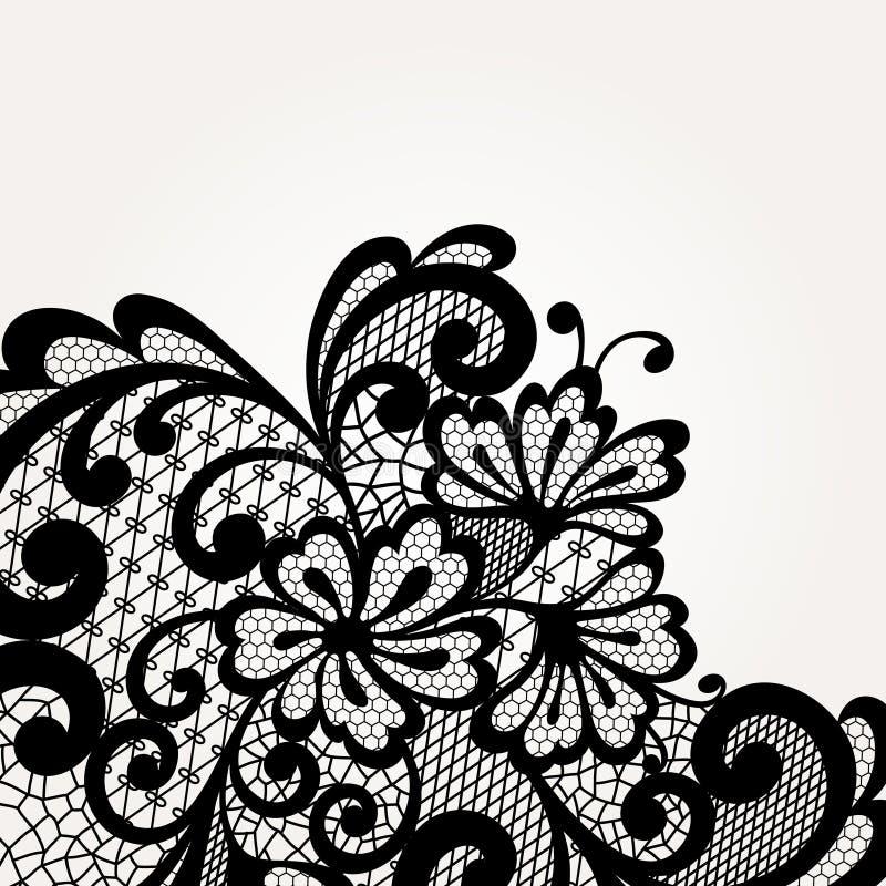 Черный угол шнурка вектора иллюстрация штока