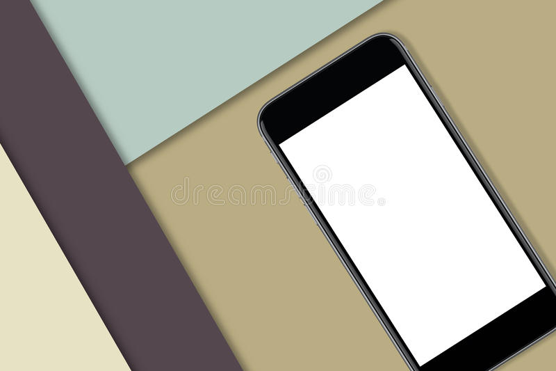 Черный умный телефон с пустым экраном стоковые фото