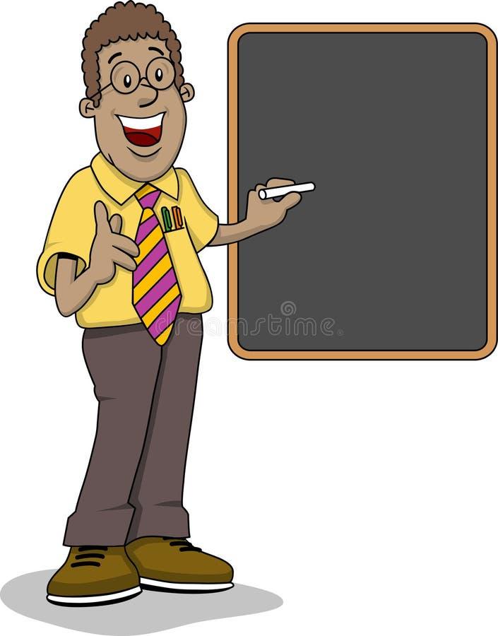 черный учитель иллюстрация вектора