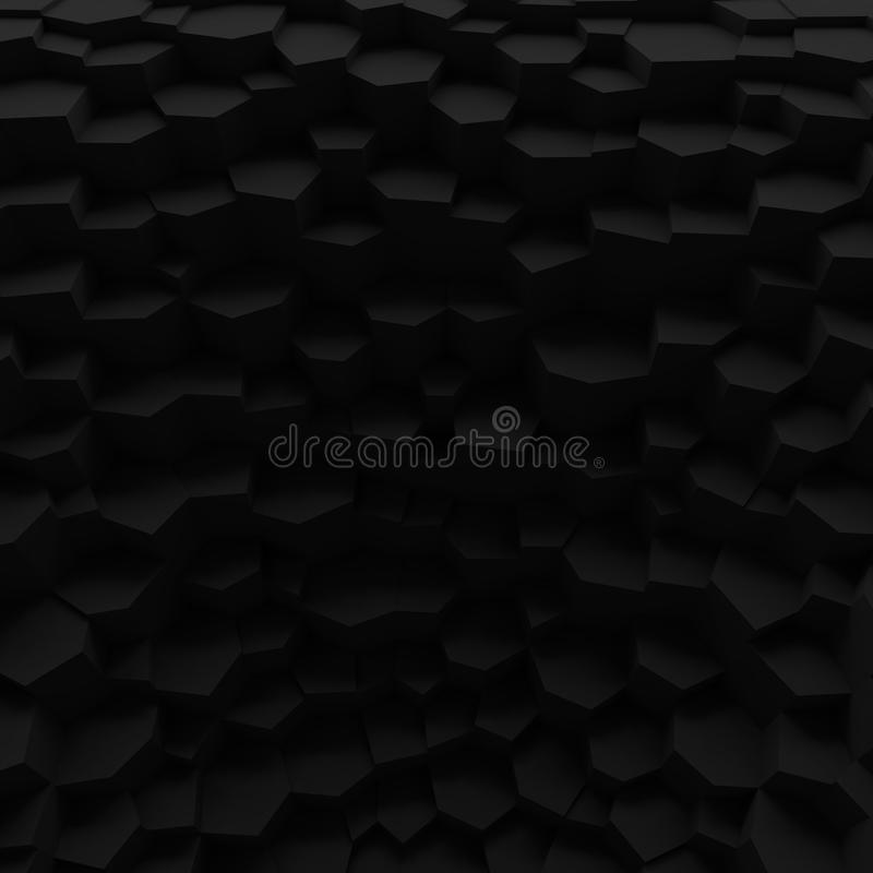 Черный фон Геометрические полигоны конспекта цвета, как великолепная стена стоковые изображения rf