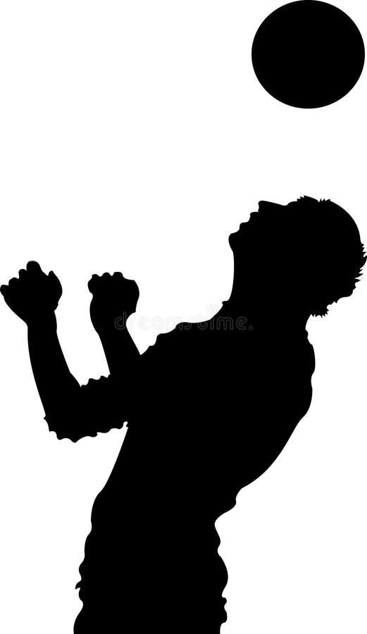 черный футбол игрока иллюстрация штока