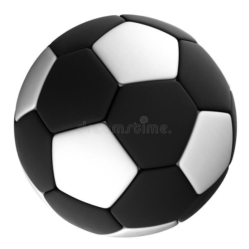 Download Черный футбольный мяч при белые изолированные точки, Стоковое Фото - иллюстрации насчитывающей игра, closeup: 40590808