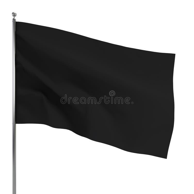 черный флаг иллюстрация штока