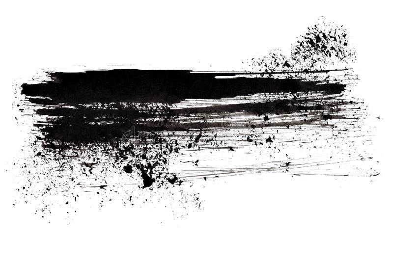 черный ход щетки иллюстрация штока