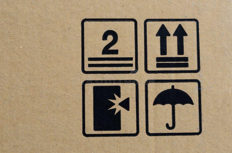 Download Черный хрупкий символ на коробке Иллюстрация штока - иллюстрации насчитывающей упаковывать, защитите: 41658132