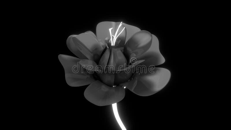 черный цветок бесплатная иллюстрация