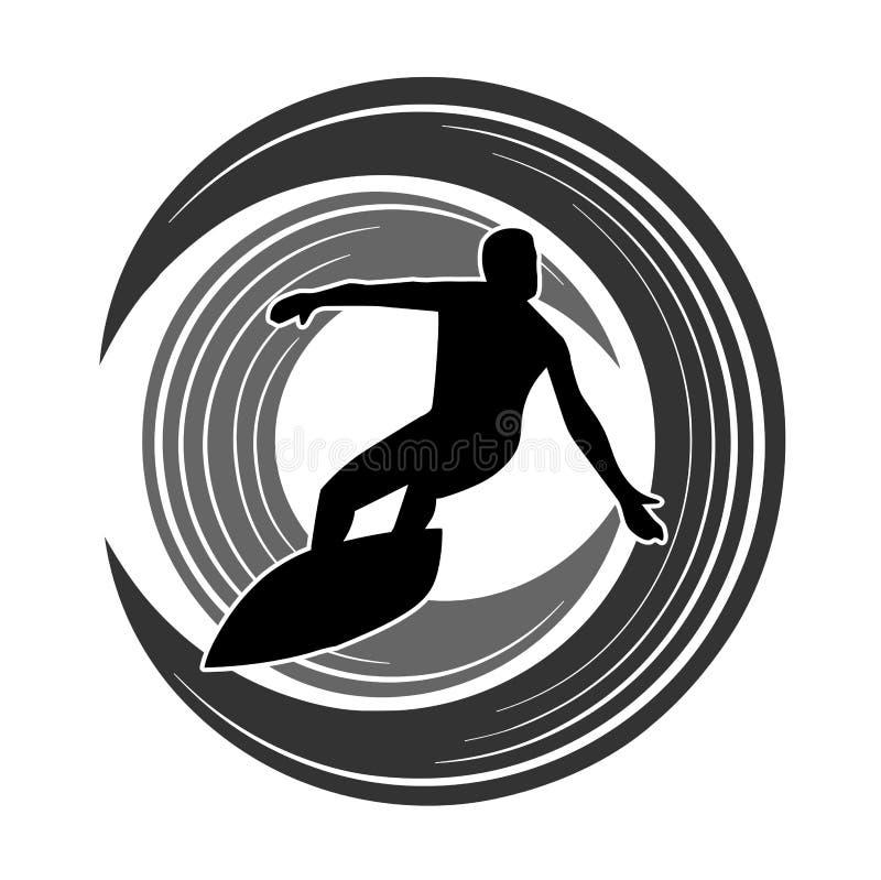 черный цвет silhouettes версии серферов бесплатная иллюстрация