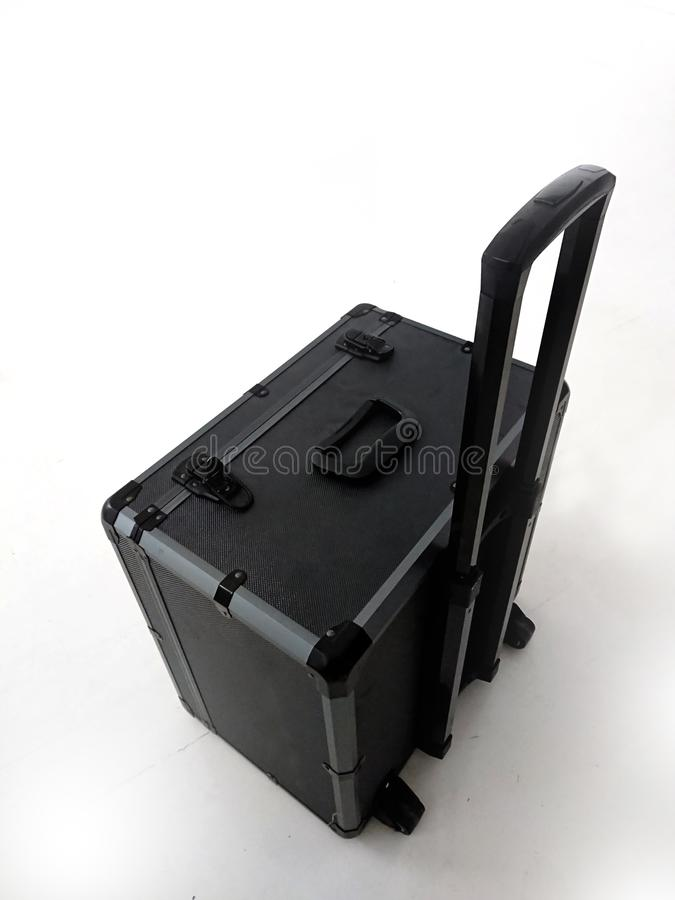 черный чемодан стоковое изображение rf