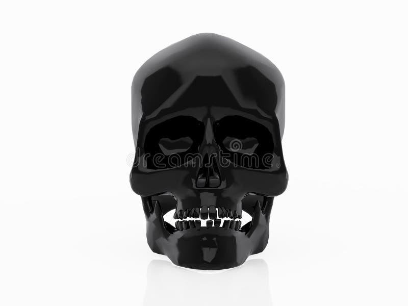 черный череп иллюстрация вектора