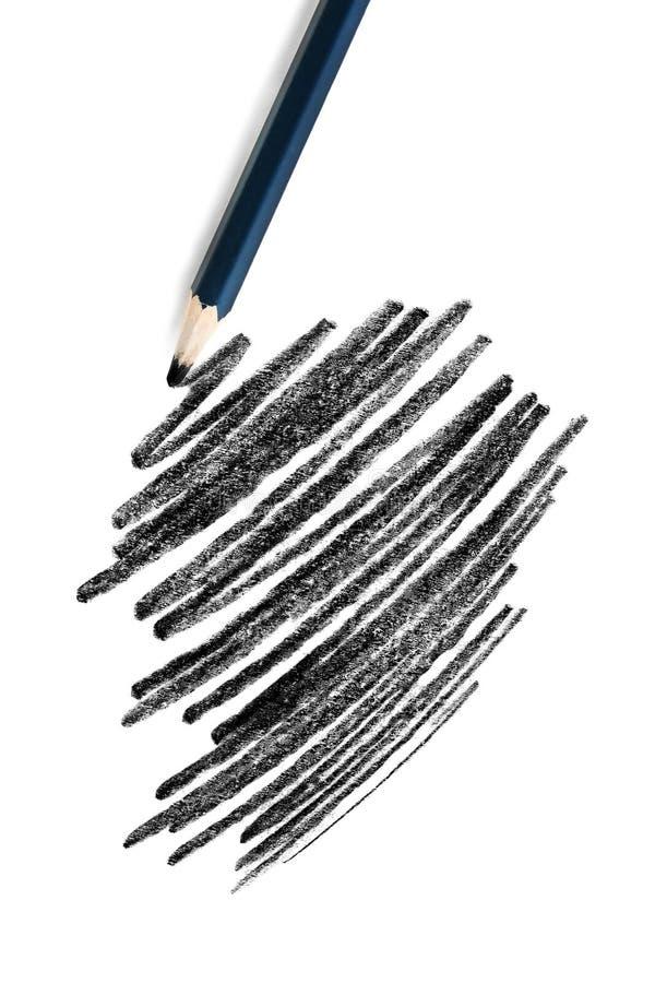 Черный чертеж карандаша стоковая фотография