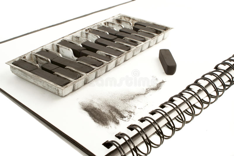 черный чертеж угля стоковые изображения