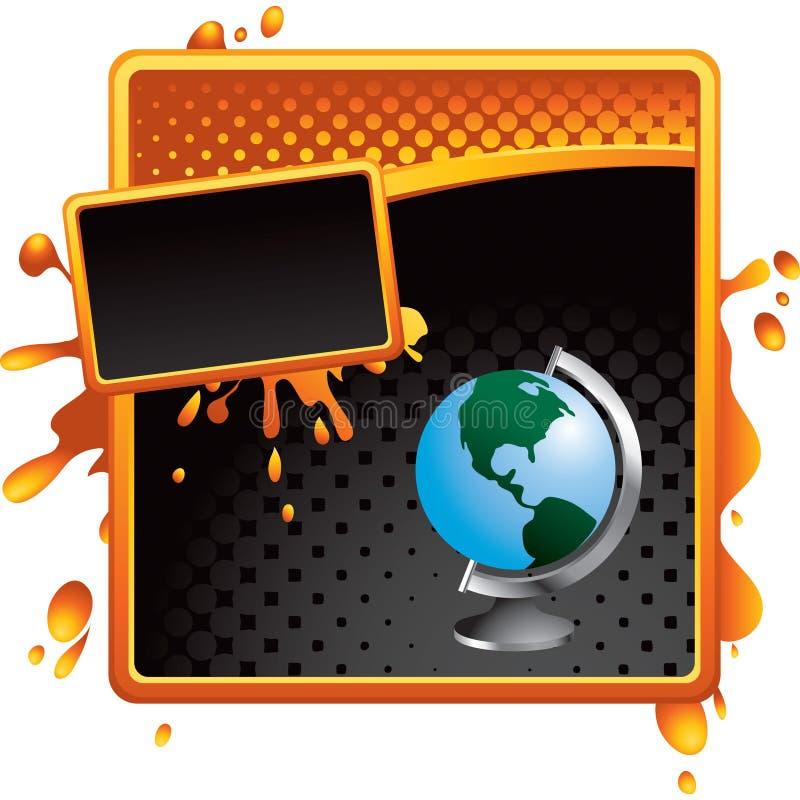 черный шаблон померанца halftone глобуса бесплатная иллюстрация