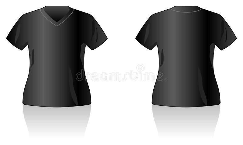 черный шаблон рубашки t конструкции иллюстрация вектора