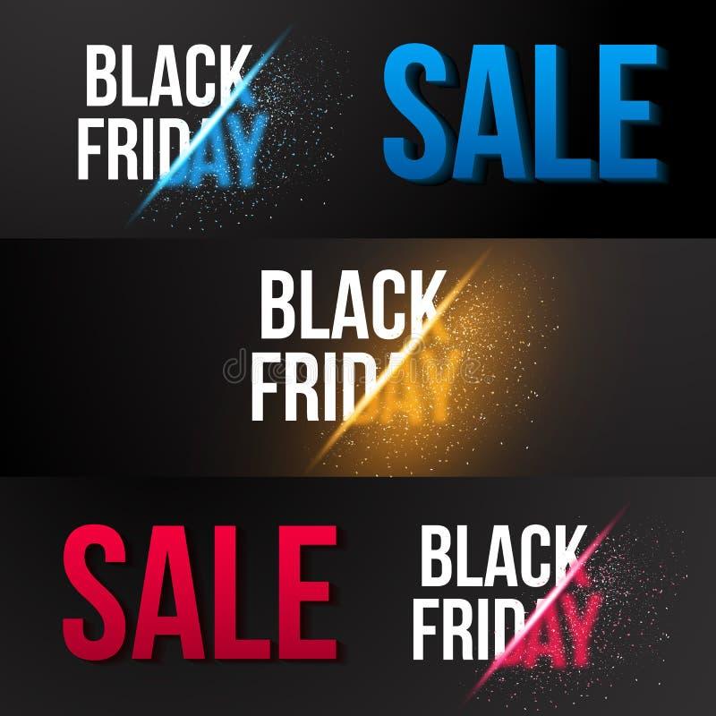 Черный шаблон знамени Exlosion вектора продажи пятницы Огромный ноябрь иллюстрация штока