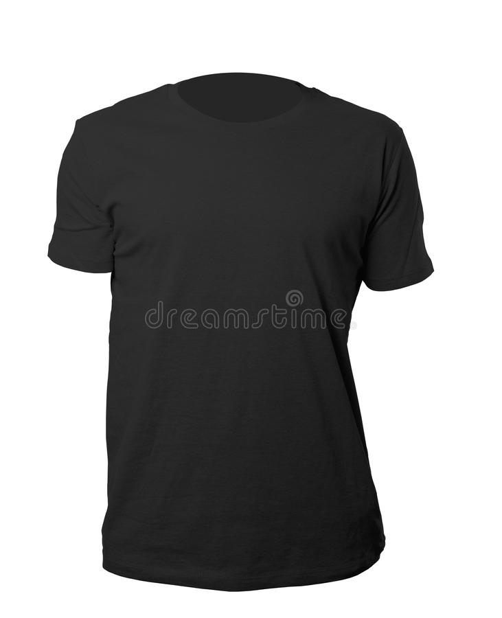 Черный шаблон рубашки стоковое фото rf