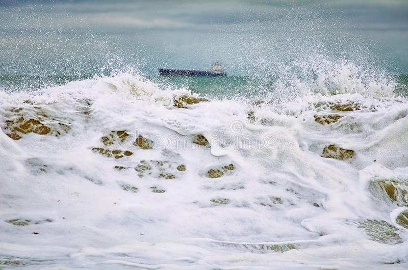 черный шторм моря стоковое фото