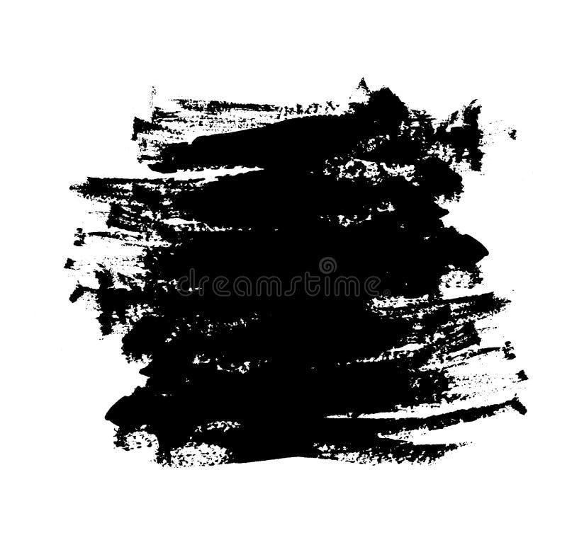 Черный brushstroke на белизне бесплатная иллюстрация