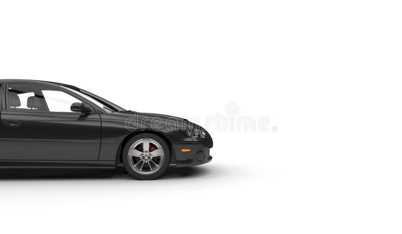 Черный Cutaway быстрого автомобиля стоковое фото