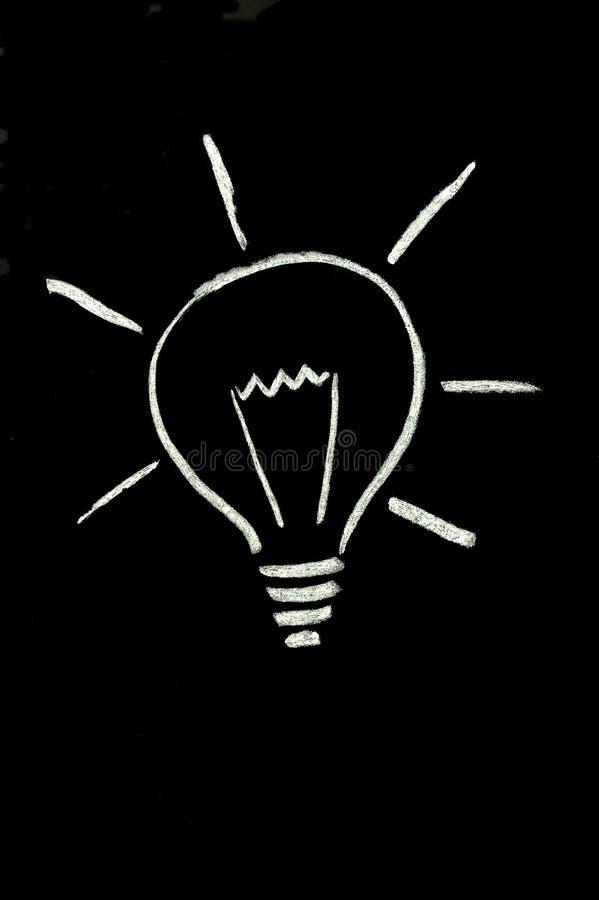 черный lightbulb мелка стоковая фотография rf