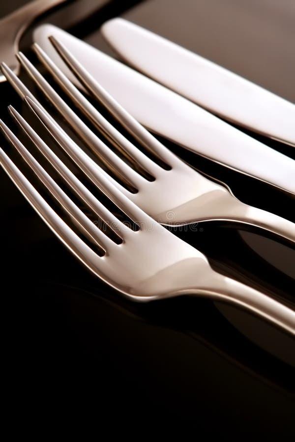 черный silverware стоковое фото rf