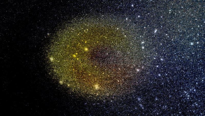 Черным желтым и серым предпосылка текстурированная ярким блеском r стоковое фото