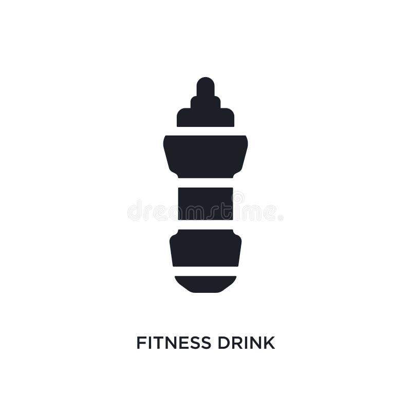 черным значок вектора фитнеса изолированный напитком простая иллюстрация элемента от значков вектора концепции спортзала и фитнес иллюстрация штока