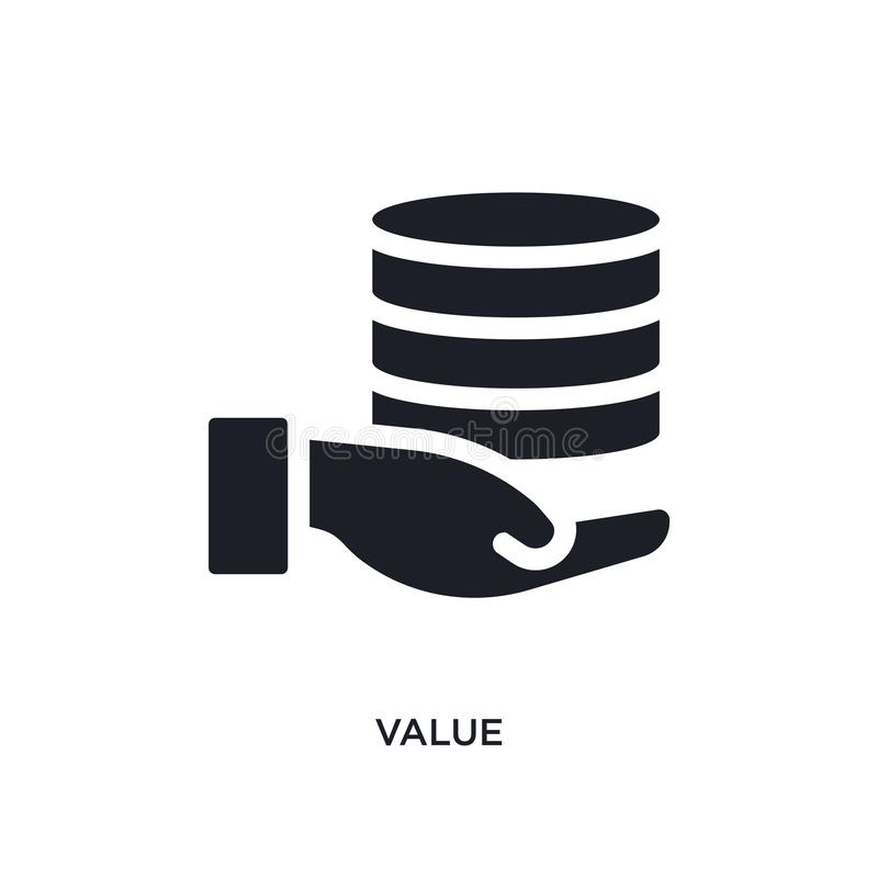 черным изолированный значением значок вектора простая иллюстрация элемента от больших значков вектора концепции данных символ лог бесплатная иллюстрация