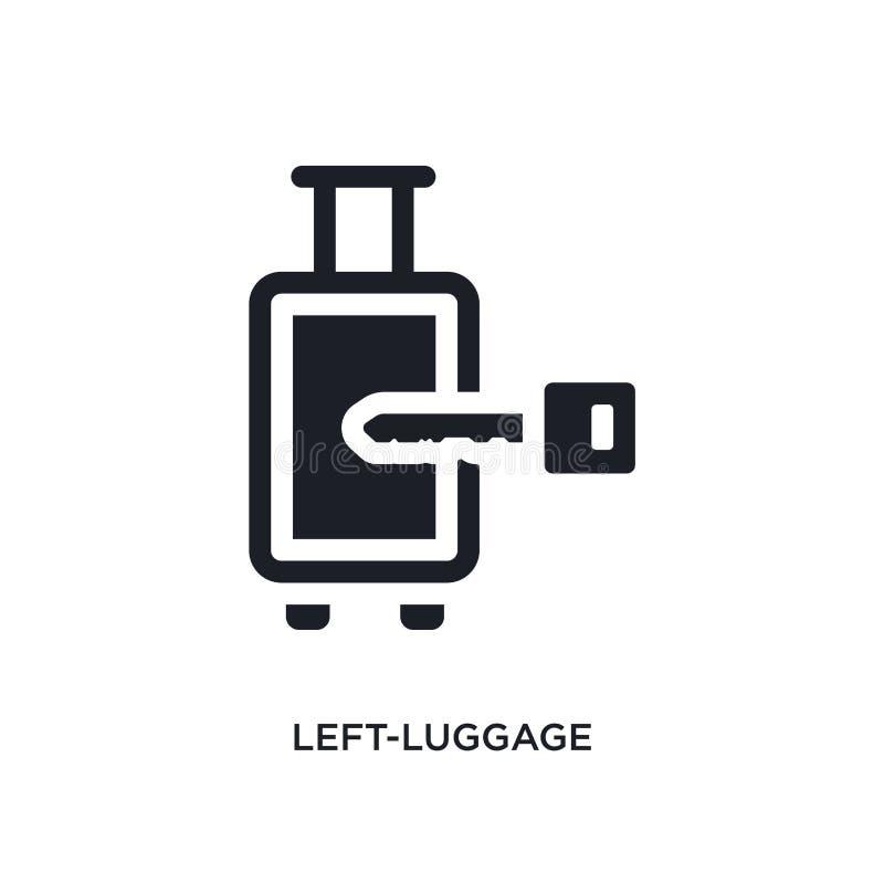 черным изолированный лев-багажом значок вектора простая иллюстрация элемента от значков вектора концепции гостиницы и ресторана л иллюстрация штока