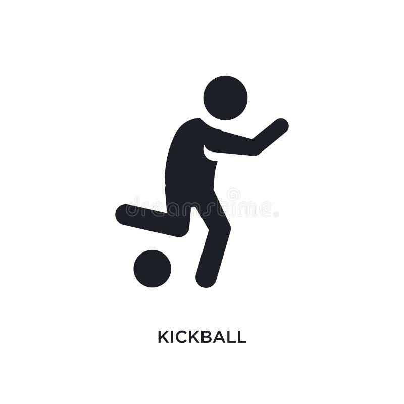 черным изолированный kickball значок вектора простая иллюстрация элемента от значков вектора концепции спорта символ логотипа kic иллюстрация штока