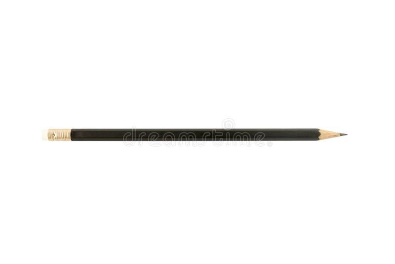 Черным предпосылка цвета изолированная карандашем белая стоковое фото
