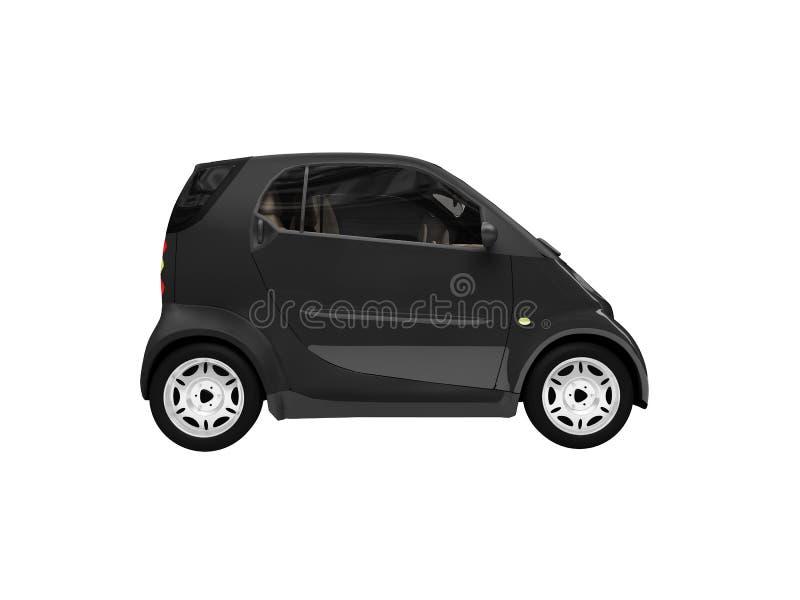 черным сторона изолированная автомобилем миниая иллюстрация вектора