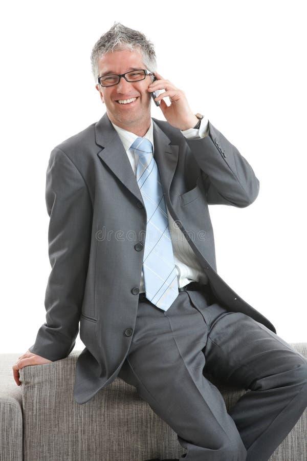 чернь бизнесмена счастливая стоковое фото