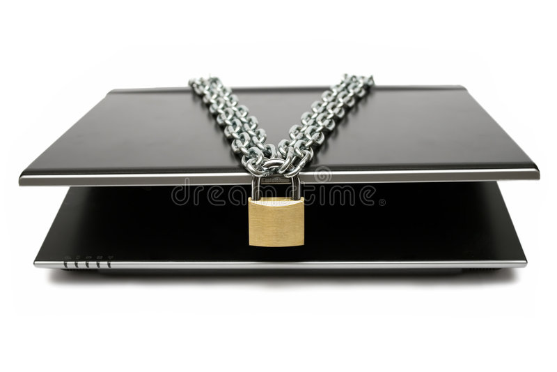 чернь компьютера locked стоковое фото rf