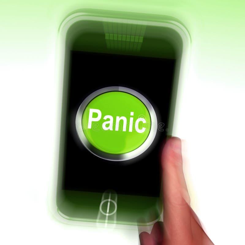 Чернь паники значит дистресс и сигнал тревоги тревожности бесплатная иллюстрация