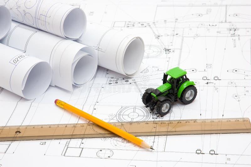 чертежи конструктора стоковое изображение rf