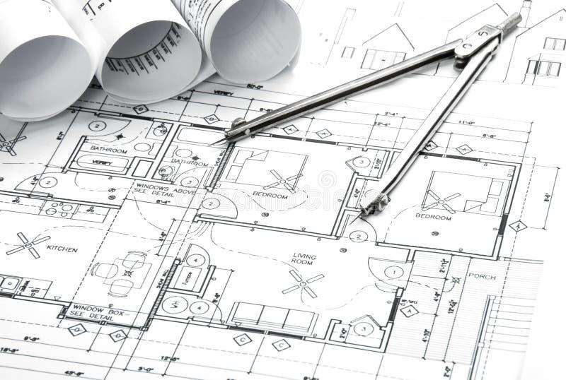 Чертежи планирования конструкции стоковые изображения rf