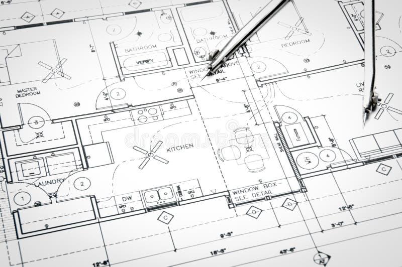 Чертежи планирования конструкции стоковое изображение rf