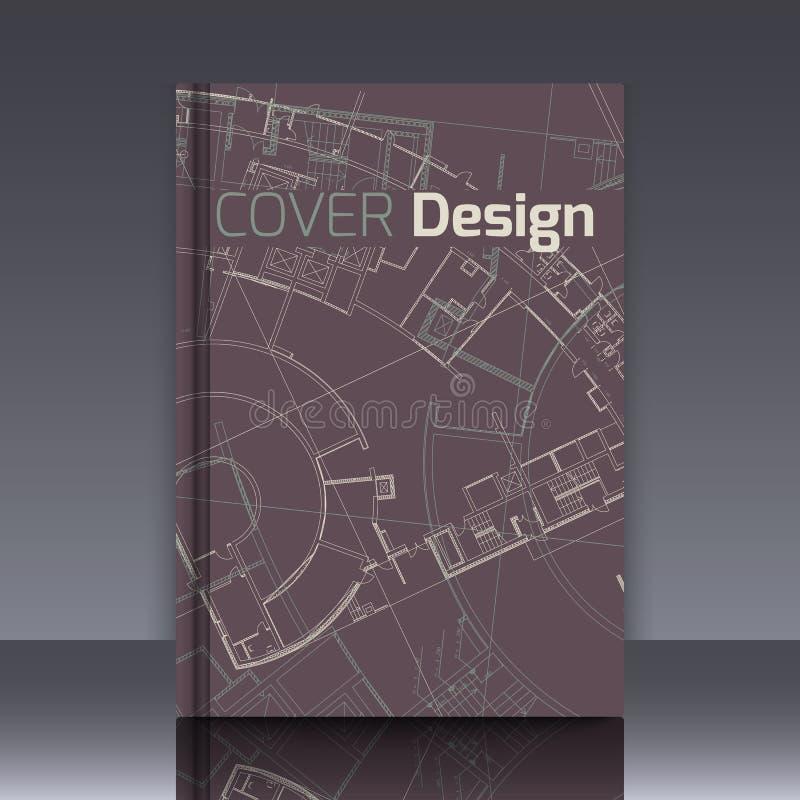 Чертеж абстрактной архитектурноакустической детали на плоской поверхности бесплатная иллюстрация
