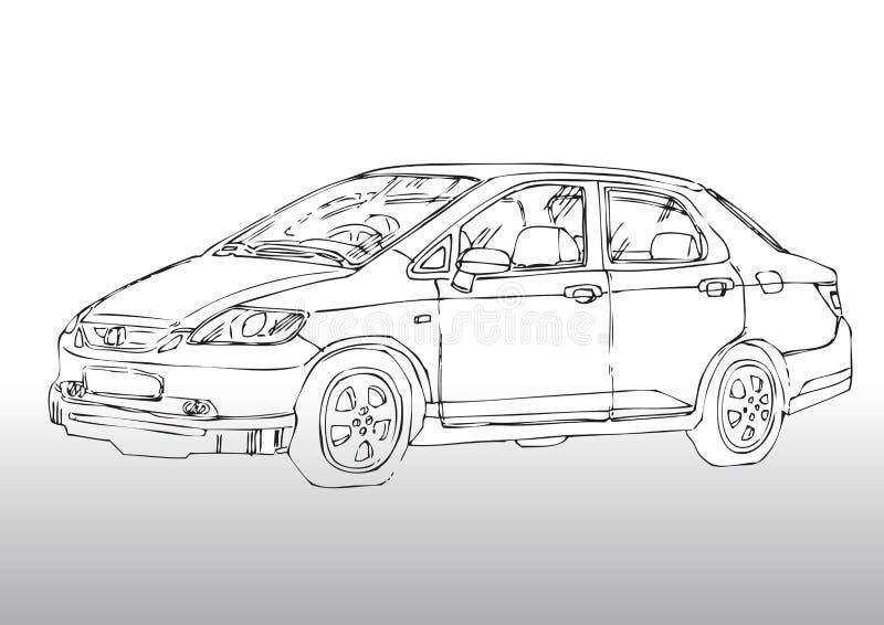 чертеж автомобиля бесплатная иллюстрация