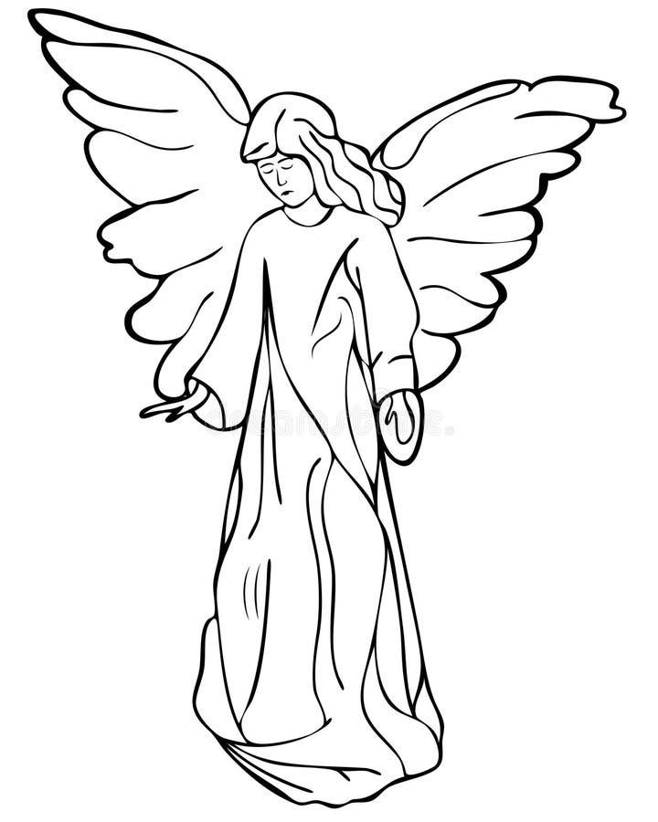 чертеж ангела иллюстрация вектора