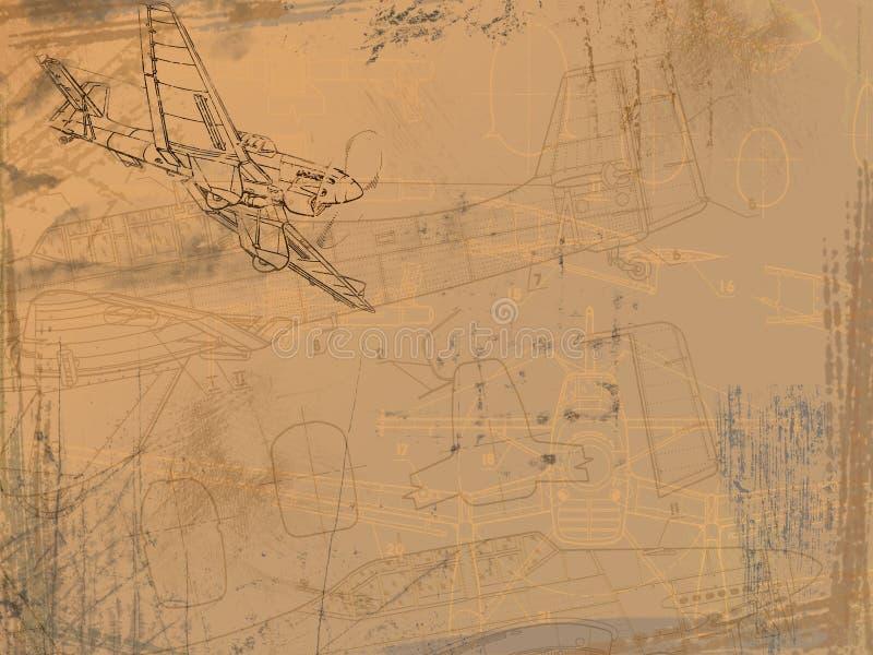 чертеж аэроплана иллюстрация штока