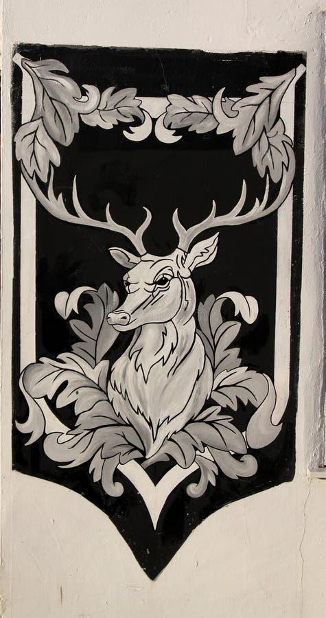 Чертеж белого оленя Харта стоковая фотография