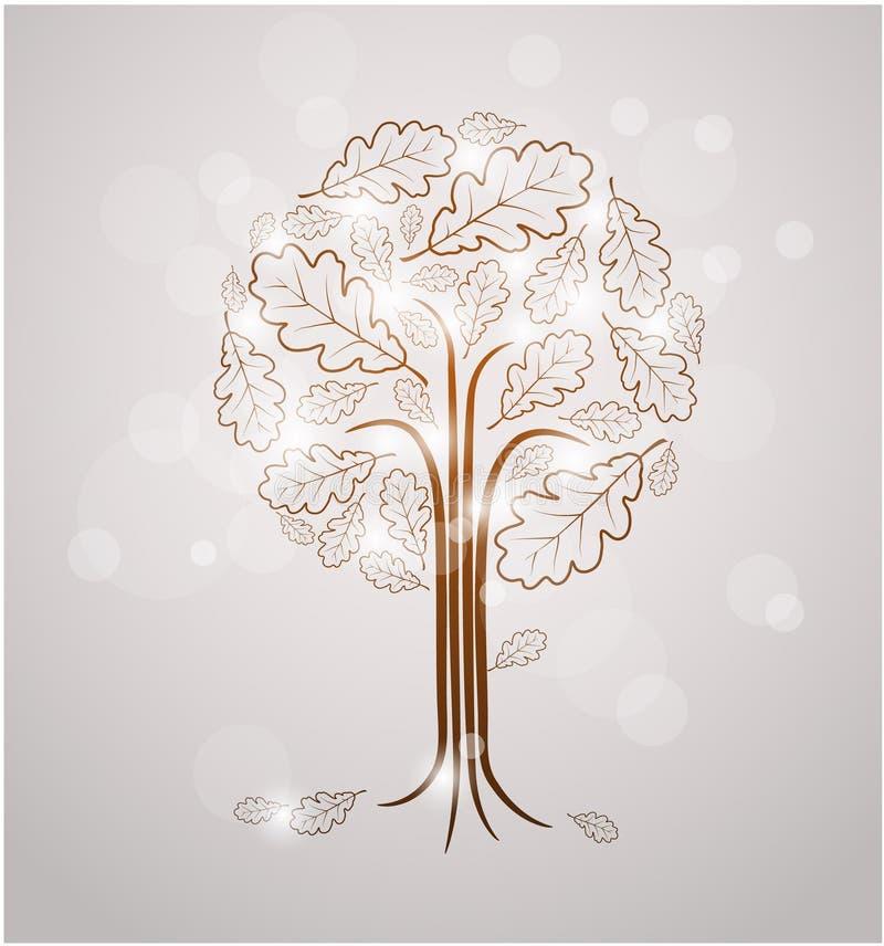 Чертеж вала сбора винограда абстрактный иллюстрация вектора