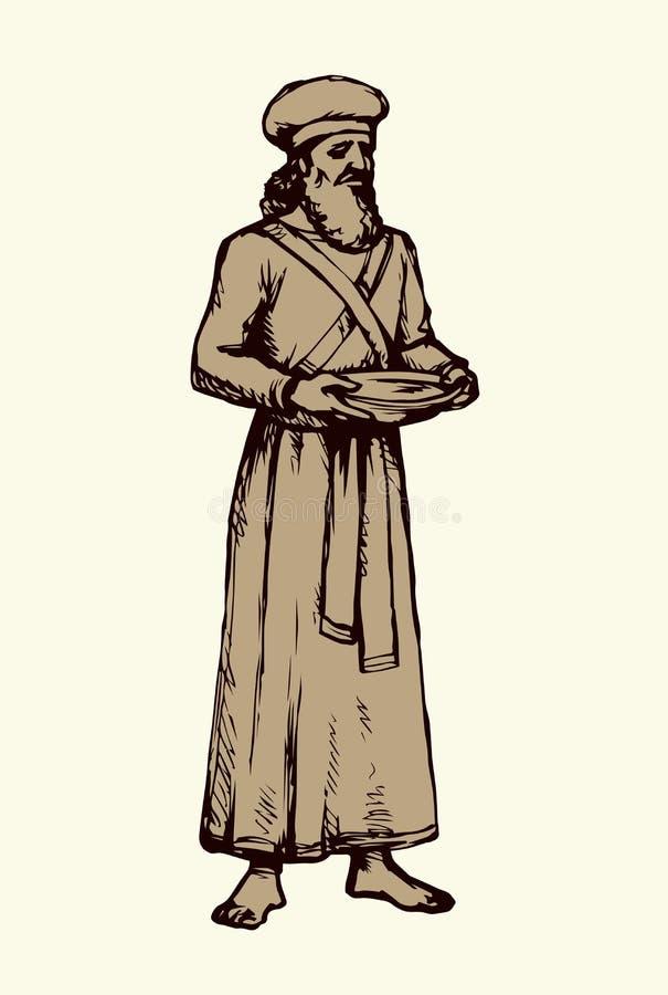 Чертеж вектора первосвященника бесплатная иллюстрация