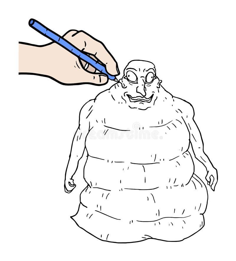 чертеж вручает ее нижнее белье утра вверх по теплым детенышам женщины бесплатная иллюстрация
