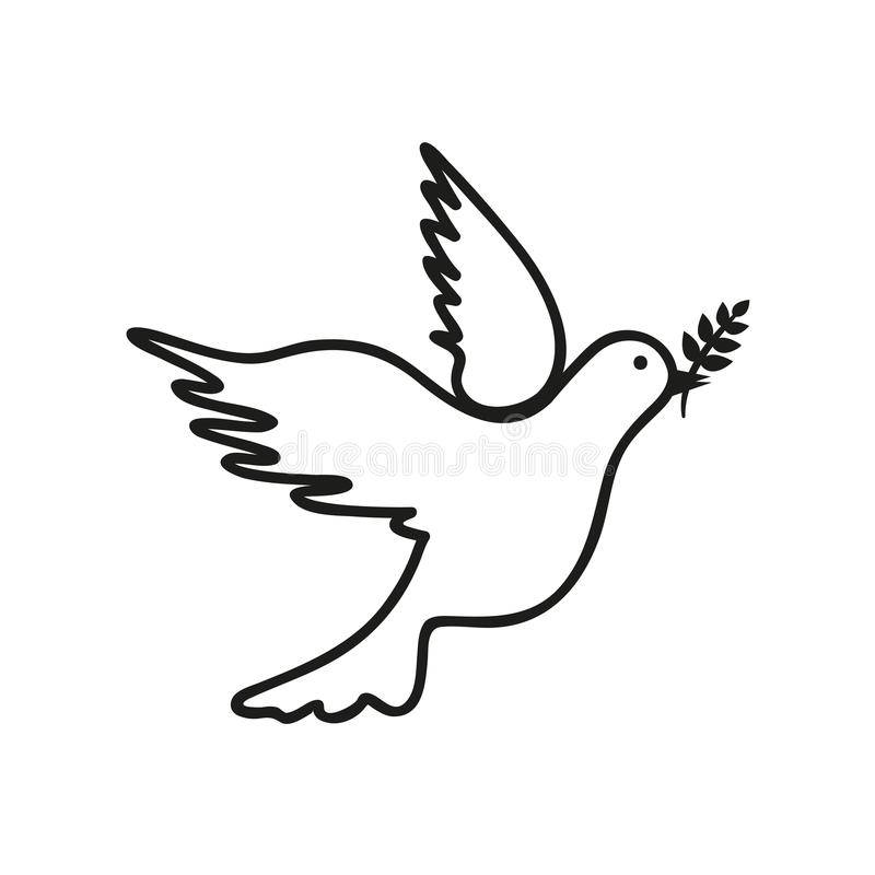 Чертеж голубя черно-белый бесплатная иллюстрация