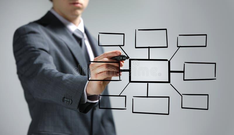 чертеж диаграммы бизнесмена пустой стоковое фото rf